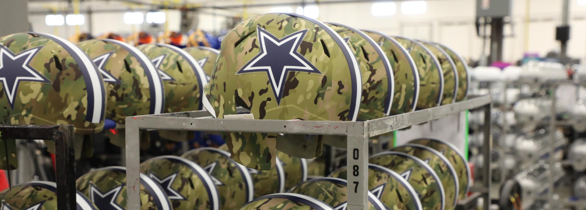 Dallas Cowboys Speed Authentic Camo Helmets