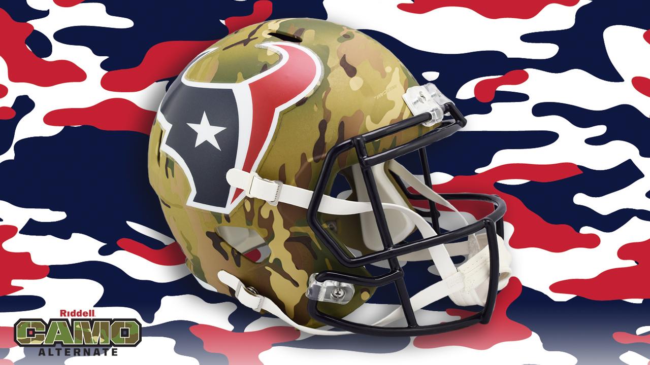 Houston Texans Speed Authentic Camo Helmet